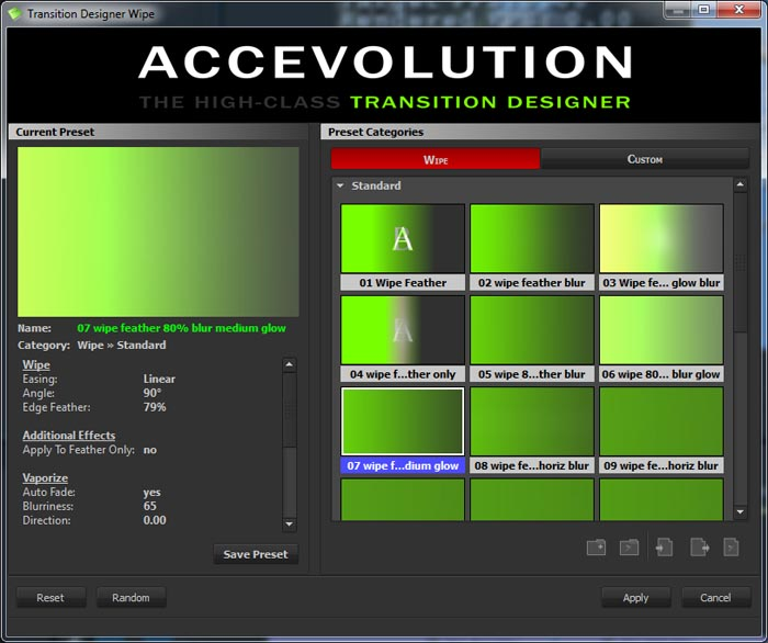 Accevolution Transition Designer Wipe