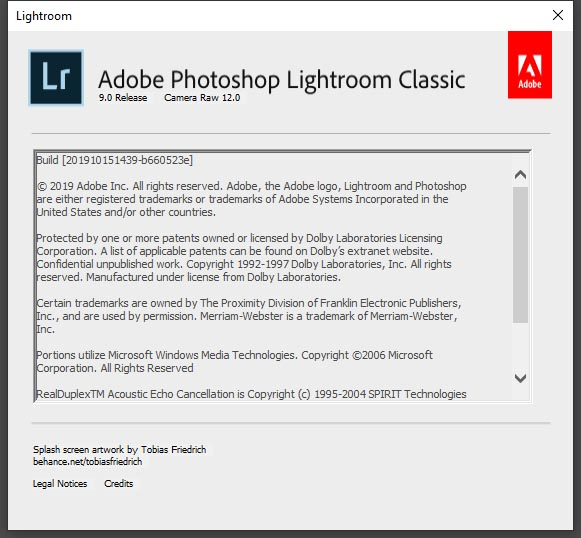 Adobe Photoshop Lightroom Classic CC 9.0
