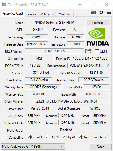 NVIDIA GeForce GTX 660M