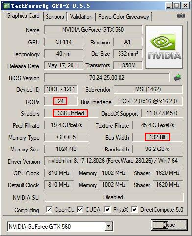 nVidia GeForce GTX 560 (OEM)