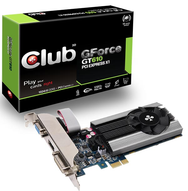 Club 3D GeForce GT 610 PCI Express X1