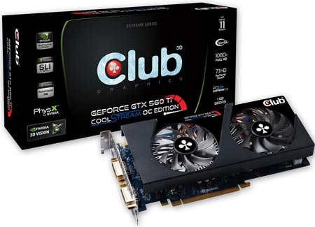 Club 3D NVIDIA GTX 560Ti CoolStream OC Edition