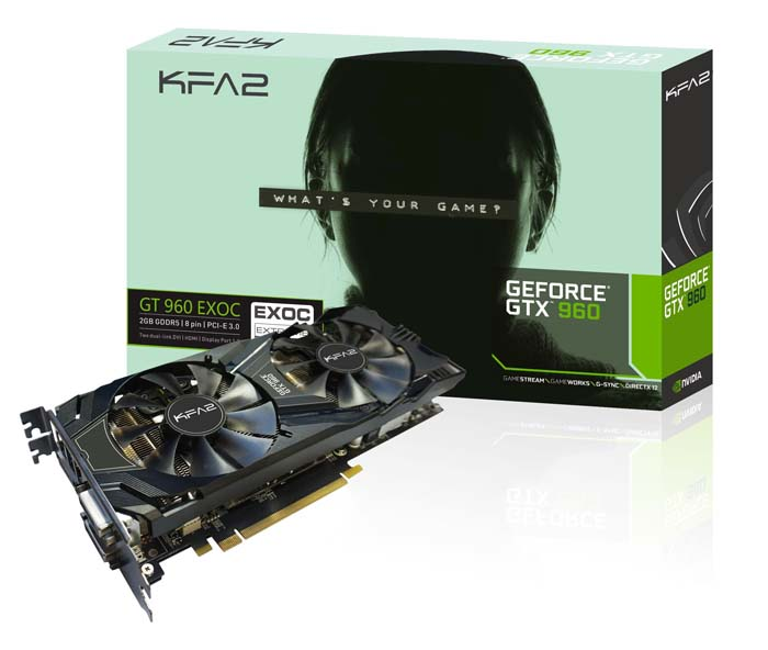 KFA2 GeForce GTX 960 EXOC