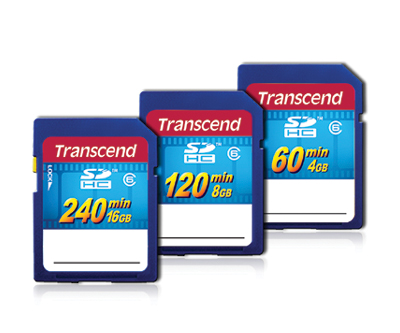 Transcend SDHC HD Video Card