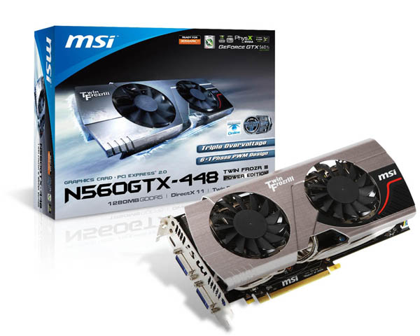 MSI N560GTX-448 Twin Frozr III Power Edition