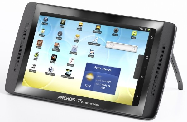 ARCHOS 70 internet table